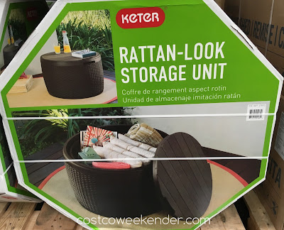 Have a place to put gardening tools or bbq equipment with the Keter Rattan-Look Storage Unit