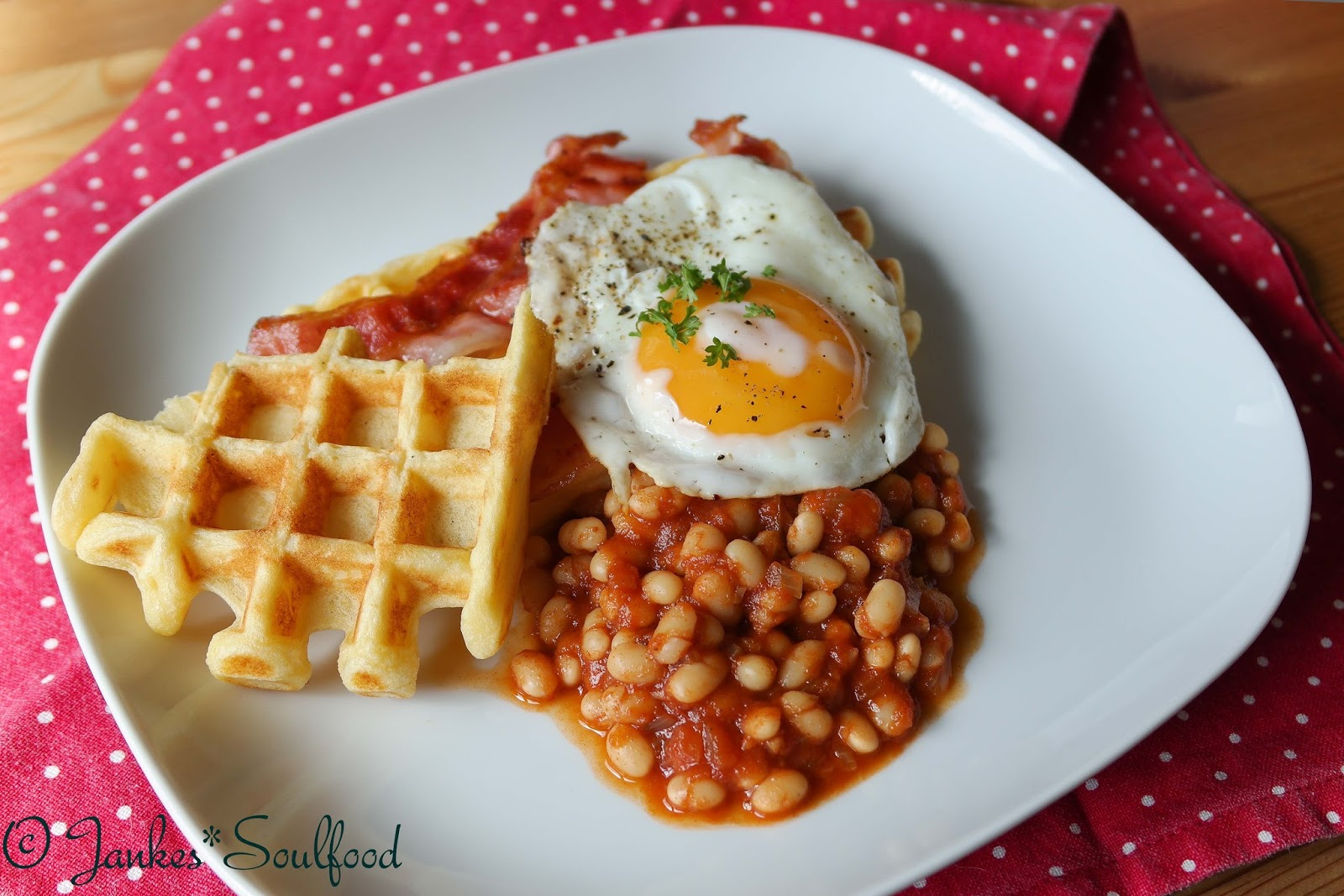 English Breakfast Waffles