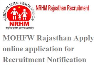 MOHFW Rajasthan Recruitment 2017