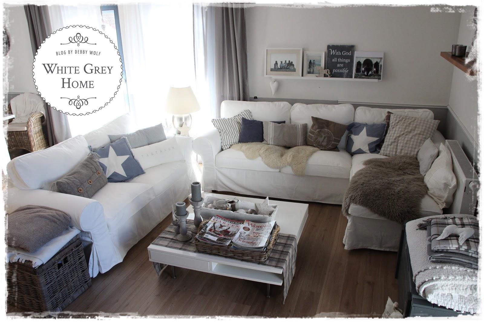White grey home weihnachten im wohnzimmer - Weihnachten wohnzimmer ...