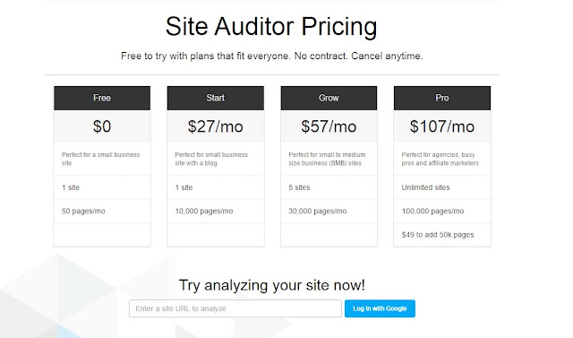 raven tools site auditor pricing