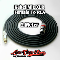 Kabel Mic XLR Female To RCA 2 Meter