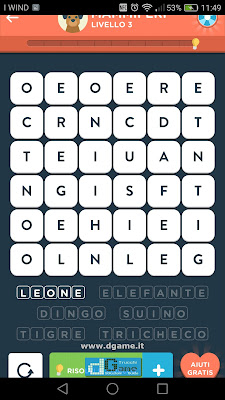 WordBrain 2 soluzioni: Categoria Mammiferi (6X6) Livello 3