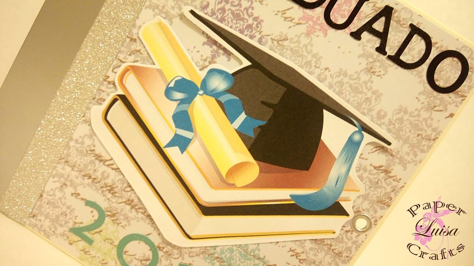 Luisa papercrafts mini album graduaci n - Cosas para decorar las fotos ...