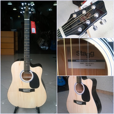 Đàn Guitar Acoustic Stagg SW201CW