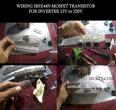 Wiring Mofet transistor IRFz44N