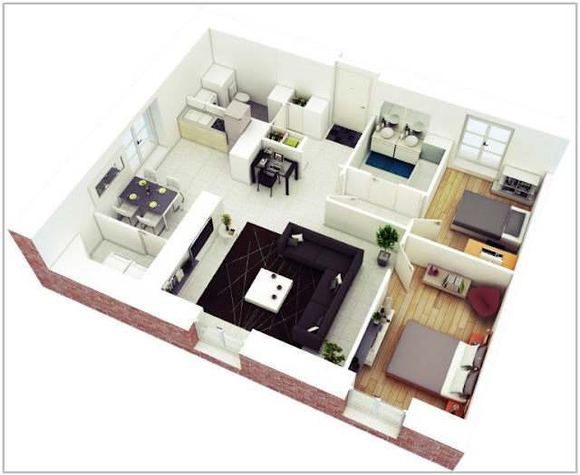 Gambar Denah Rumah 3D