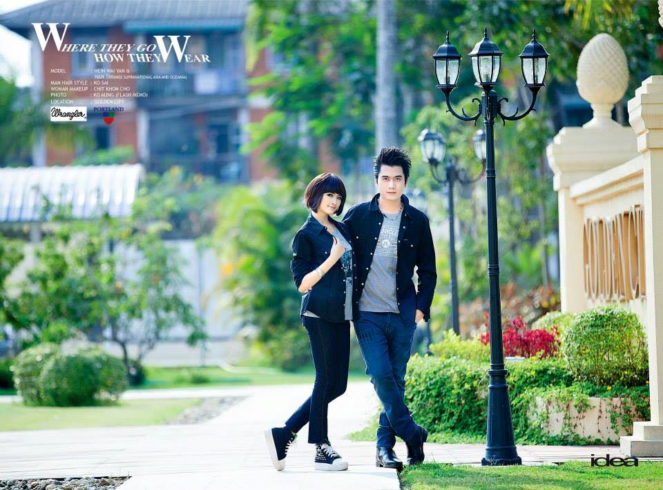 Hein Wai Yan and Han Thu Photoshoot for Idea Magazine