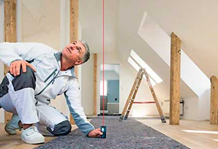 Instalaciones eléctricas residenciales - Midiendo alturas con telémetro láser