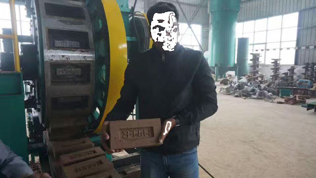 Bricks Making Machine with Company Logo on Top