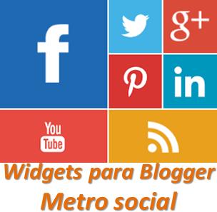 Widgets para Blogger – Metro social