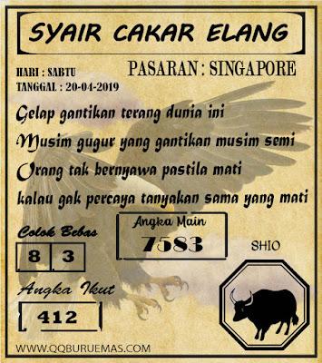 Syair SINGAPORE,20-04-2019