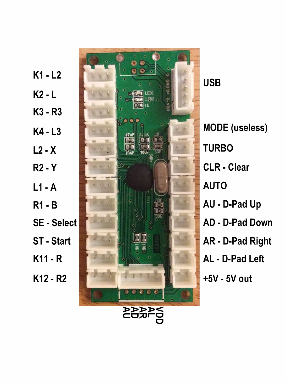 hight resolution of usb cy 822b led joystick controller board face