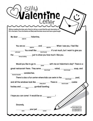 valentine's day mad libs - my sister's suitcase - packed with, Ideas
