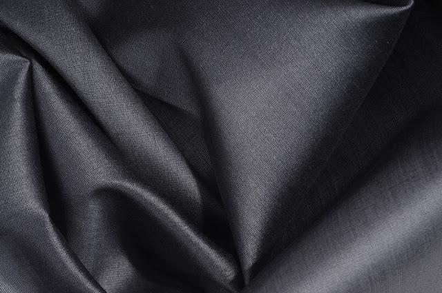 Graphite Grey Cotton Silk Fabric