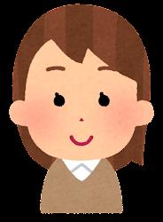 茶色い髪の女の子のイラスト