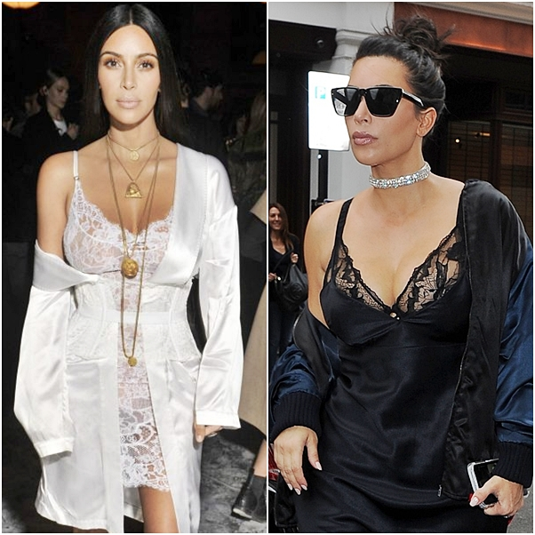 Slip Dress kim Kardashian
