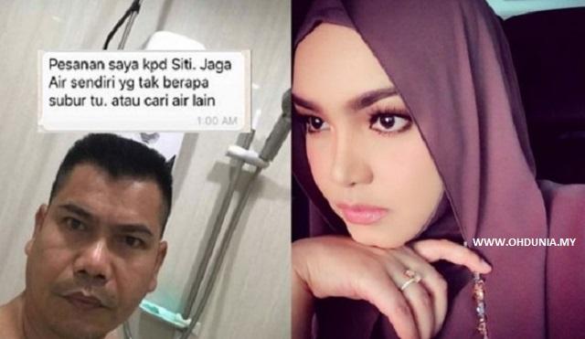 """Jamal Sindir Siti Nurhaliza """"Jaga Air Sendiri Atau Cari Air Lain.."""""""