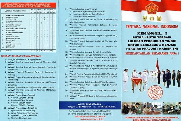 TENTARA NASIONAL INDONESIA (TNI) : CALON PRAJURIT PERWIRA AT.2015 - ACEH, INDONESIA