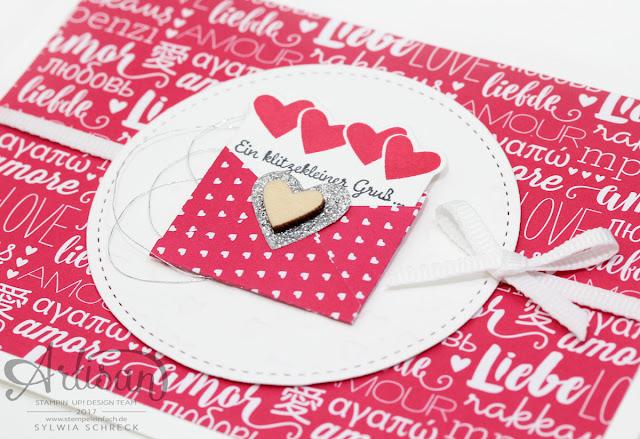 Gruß Karte Stampin up - Liebe Gruesse