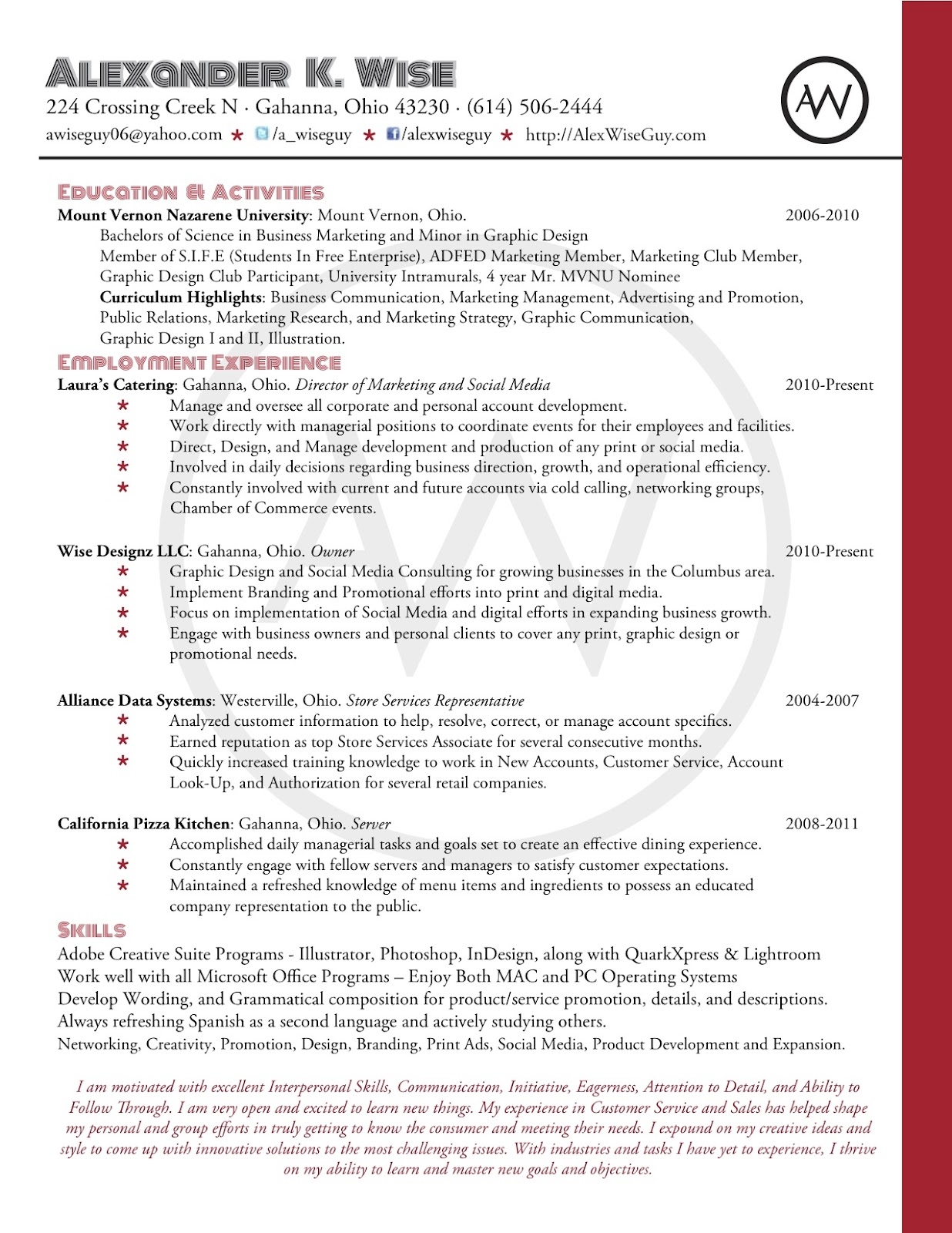 personal resume branding writemycareer sle brand