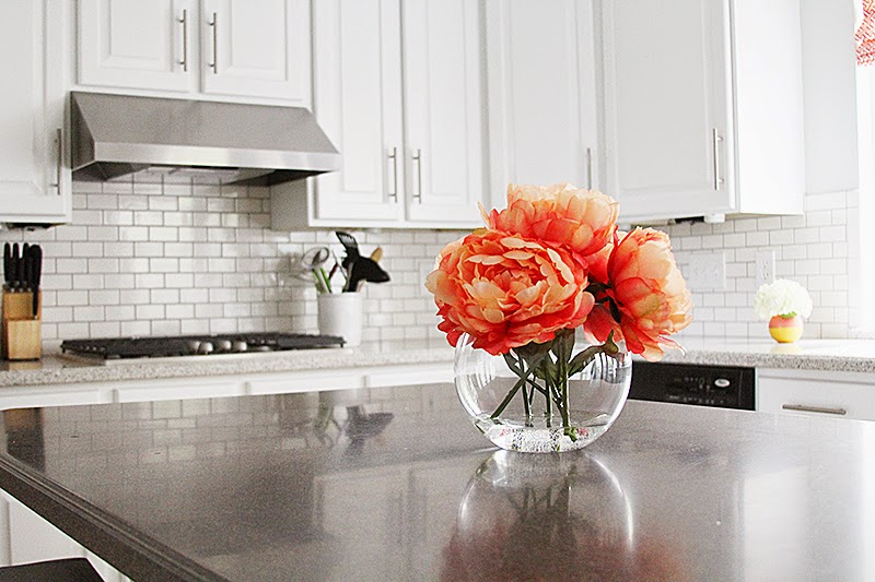 White kitchen with classic subway tile