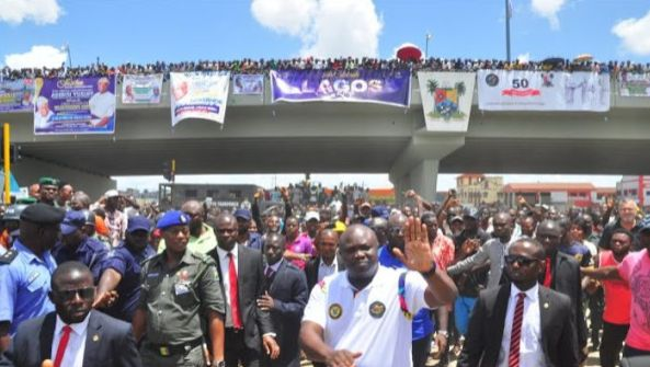 Governor Ambode commissions Abule Egba bridge (photos)