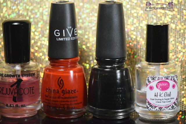 Duri Rejuvacote, China Glaze Seeing Red, China Glaze Liquid Leather, Glisten & Glow HK Girl Fast Drying Top Coat