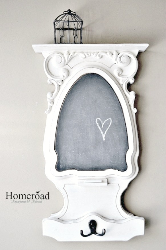 Chalkboard on wall with heart