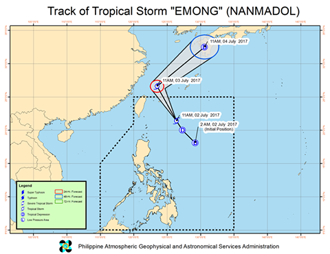 Tropical storm Emong
