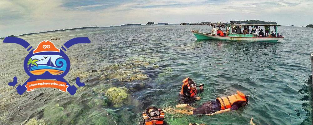 paket wisata gabungan atau open trip pulau pramuka pulau seribu jakarta