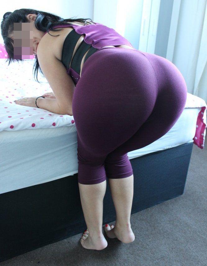 Flashing Her Big Brown Ass