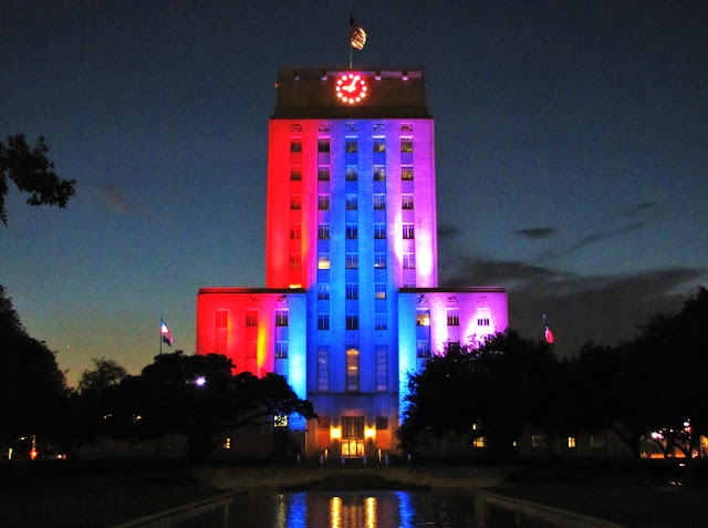 City Hall - Night-time Illumination in multiple colors (Summer 2012)