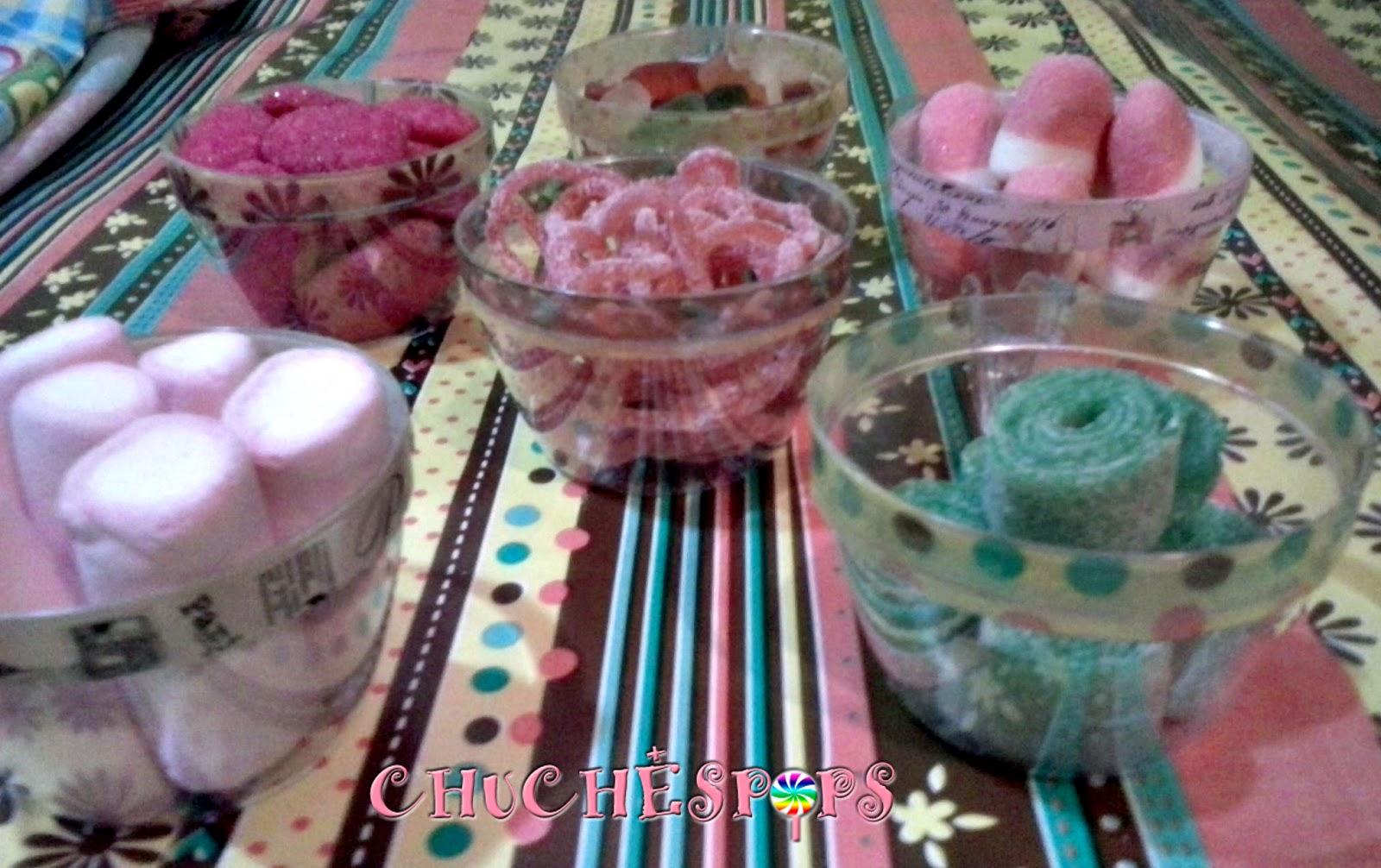 tazas decoradas con washitape para mesas dulces
