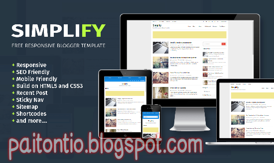 Download Simplify Free Responsive Blogger Template