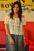 Eesha in a cute deep neck top and Skirt at at Big FM 078.JPG