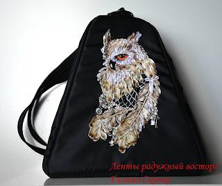 сумки, рюкзаки ручной работы с вышивкой лентами