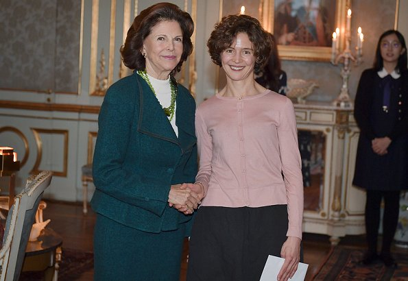 Queen Silvia of Sweden presented the Queen Silvia Jubilee Fund's scholarships