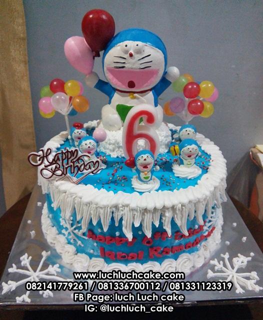 Luch Luch Cake Kue Tart Ulang Tahun Doraemon Lucu Untuk Anak