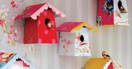 Creare una casetta decor per uccellini creare con la carta for Casette per conigli fai da te