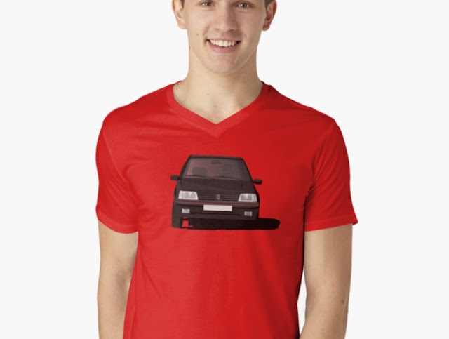 Peugeot 205 GTi t-shirt red
