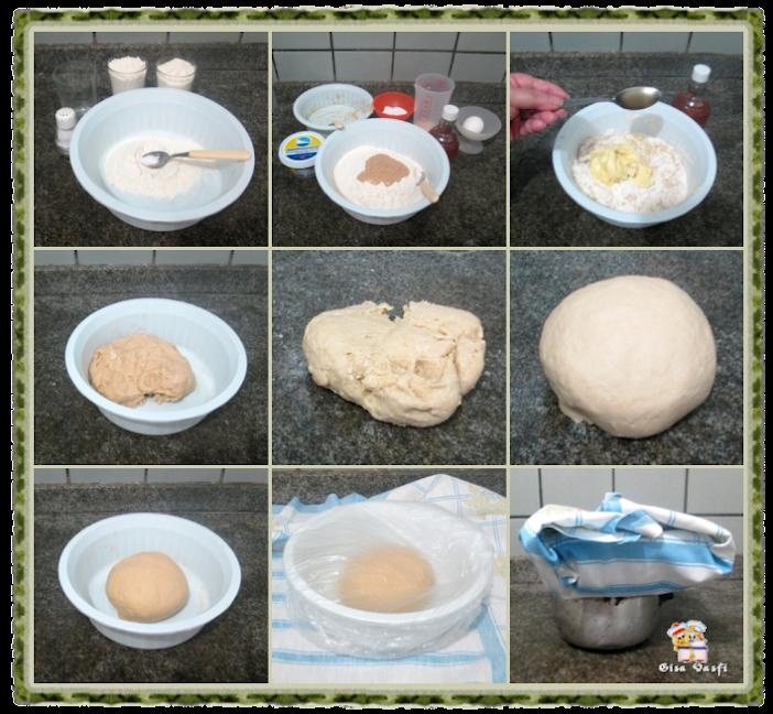 Pão recheado com queijo cremoso 9