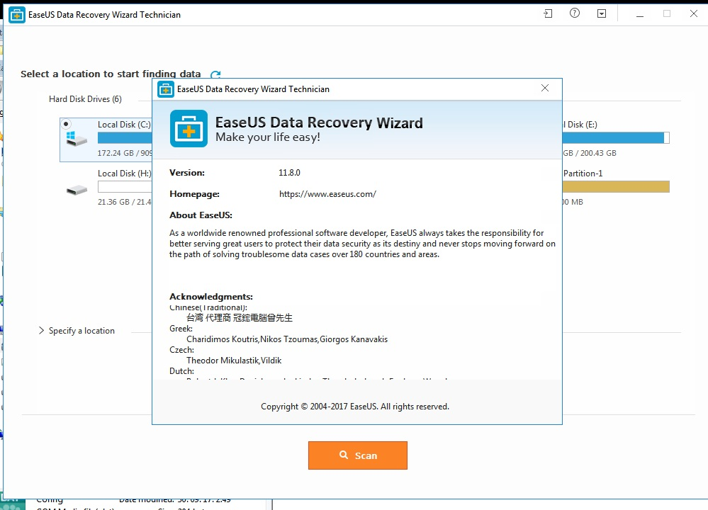 easeus data recovery wizard 11.6 full license code 2017