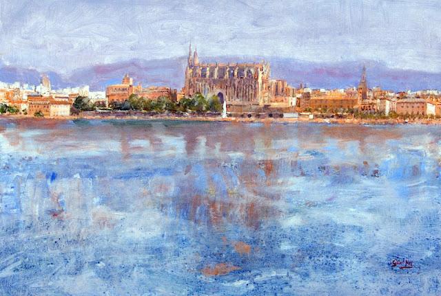 Cati Gelabert Niell, Puerto de Palma, Mallorca en Pintura, Mallorca pintada, Paisajes de Mallorca