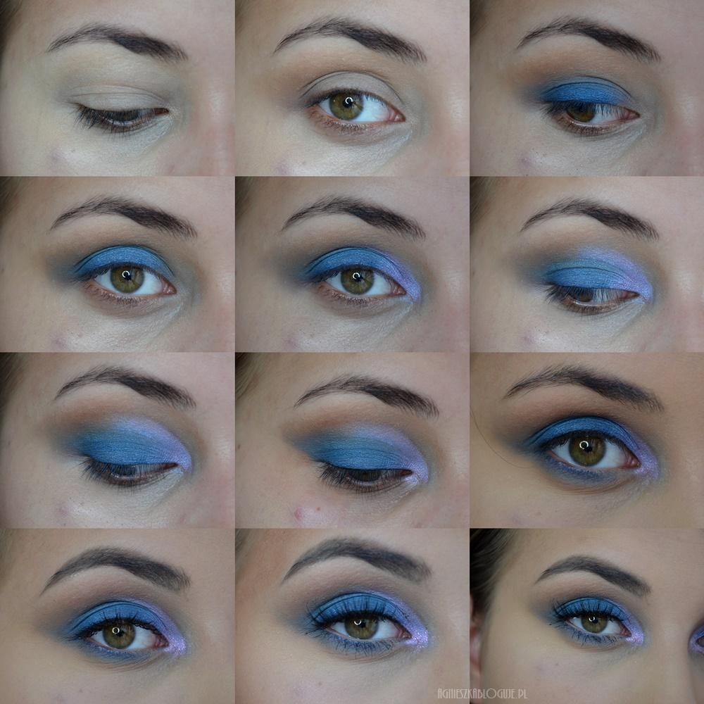 blue makeup niebieski cien