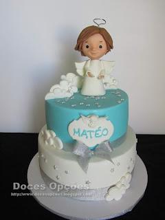 bolo batizado bragança anjo