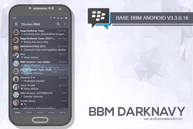 BBM Dark Navy V3.3.0.16 - BBM MOD Android V3.3.0.16