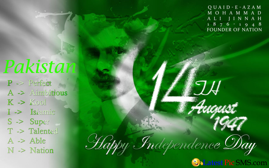 14 August happy independence day pakistan 2015 new - SMS of The Day in English with Pictures for Whatsapp & Facebook