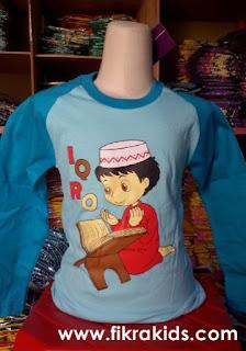 Kaos Raglan Anak Muslim Iqro Biru