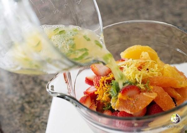 salad hoa quả tươi dâu tây 2